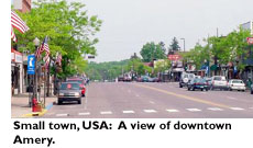 Small Town USA: A view of downtown Amery