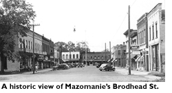 An historic view of Mazomanie's Broadhead Street