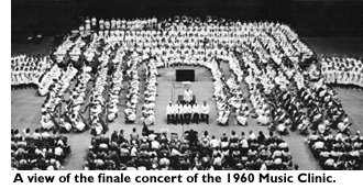 Finale concert of the 1960 Music Clinic