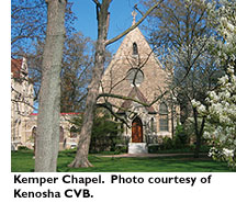 Kemper Chapel. Photo Courtesy Kenosha CVB.