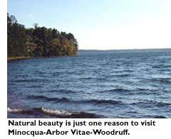 Natural beauty is just one reason to visit Minocqua-Arbor Vitae-Woodruff