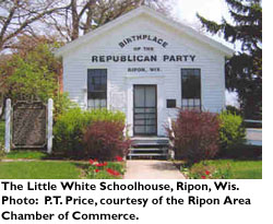 The Little White Schoolhouse, Ripon, Wis. Photo: P.T. Price, courtesy of the Ripon Chamber of Commerce