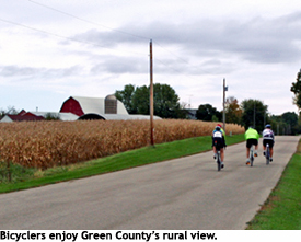 Bicyclers near Brodhead, Wisconsin