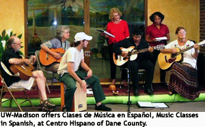A music class at Centro Hispano