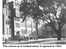 The school as it looked when it opened in 1923.