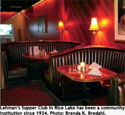 The lounge in   Lehman's Supper Club