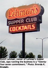 Lehman's Supper Club sign