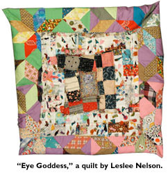 colorful quilt made by Leslee Nelson