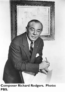 Composer Richard Rodgers. Photo: Wisconsin Center for Film and Theater Research
