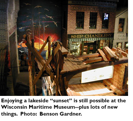 Enjoying a lakeside 'sunset' is still possible at the Wisconsin Maritime Museum -- plus lots of new things. Photo: Benson Gardner.