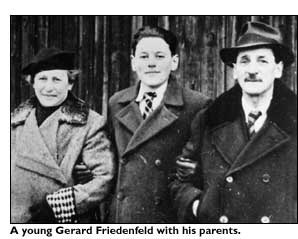 A young Gerard Friedenfeld with parents.