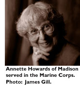 Annette Howards of Madison served in the Marine Corp. Photo: James Gill